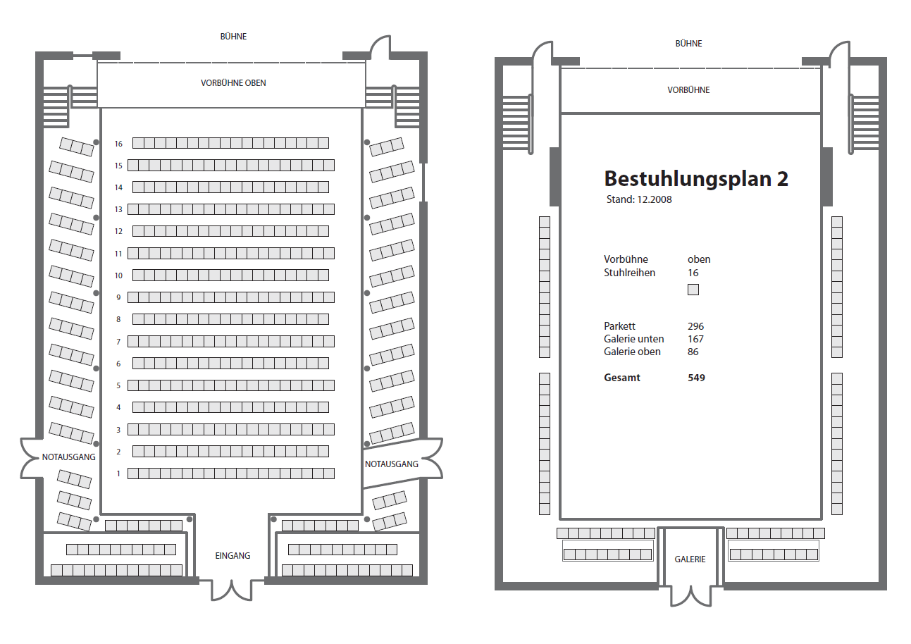 Stadtsaal Bestuhlungsplan