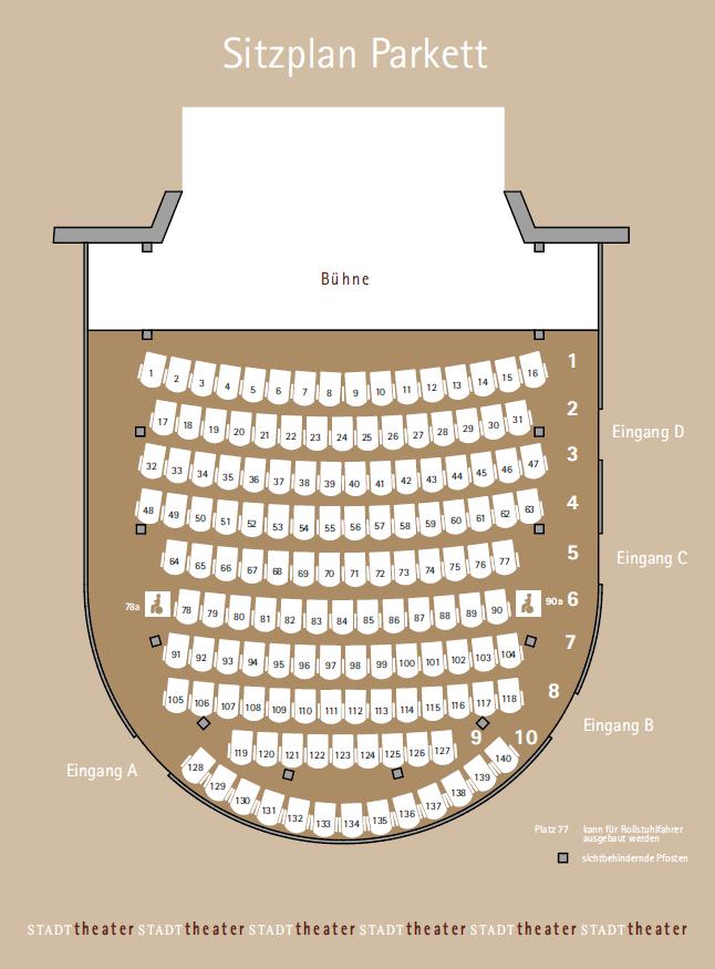 Stadttheater Sitzplatz Parkett