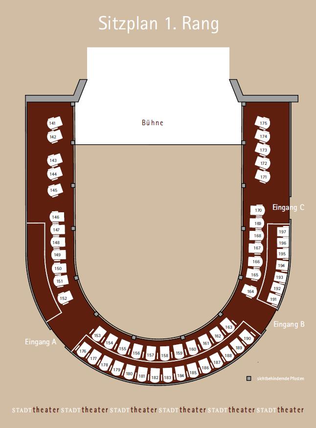 Stadttheater Sitzplatz 1. Rang