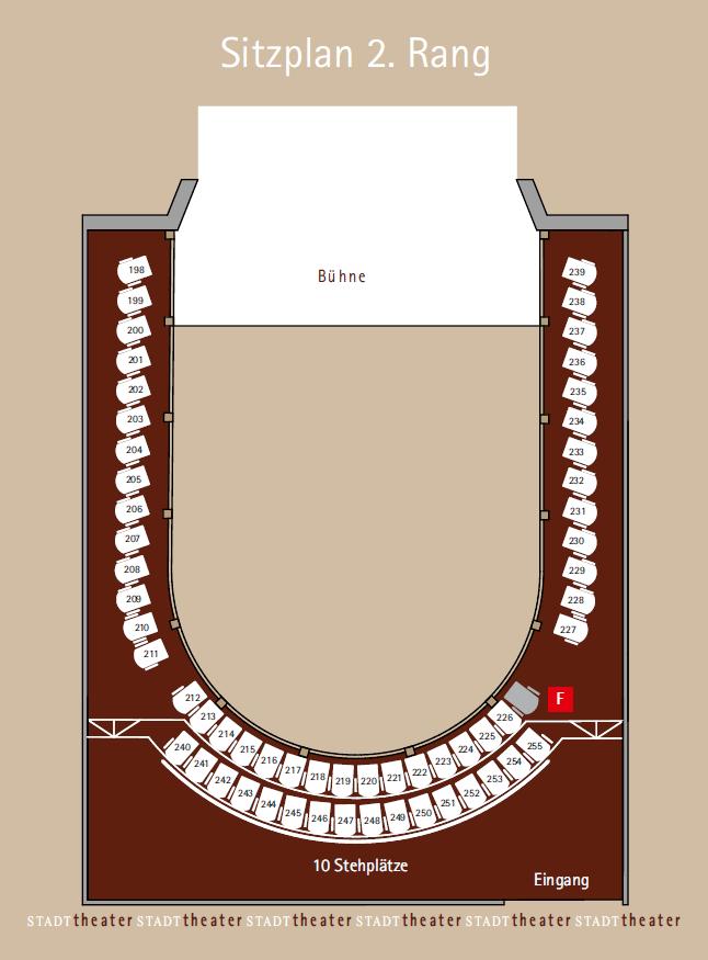 Stadttheater Sitzplatz 2. Rang